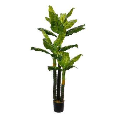 72 in. Tall Real Touch Evergreen in Pot