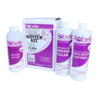 Triple-Action 15,000 Gallon Swimming Pool Winter Closing Chemical Kit