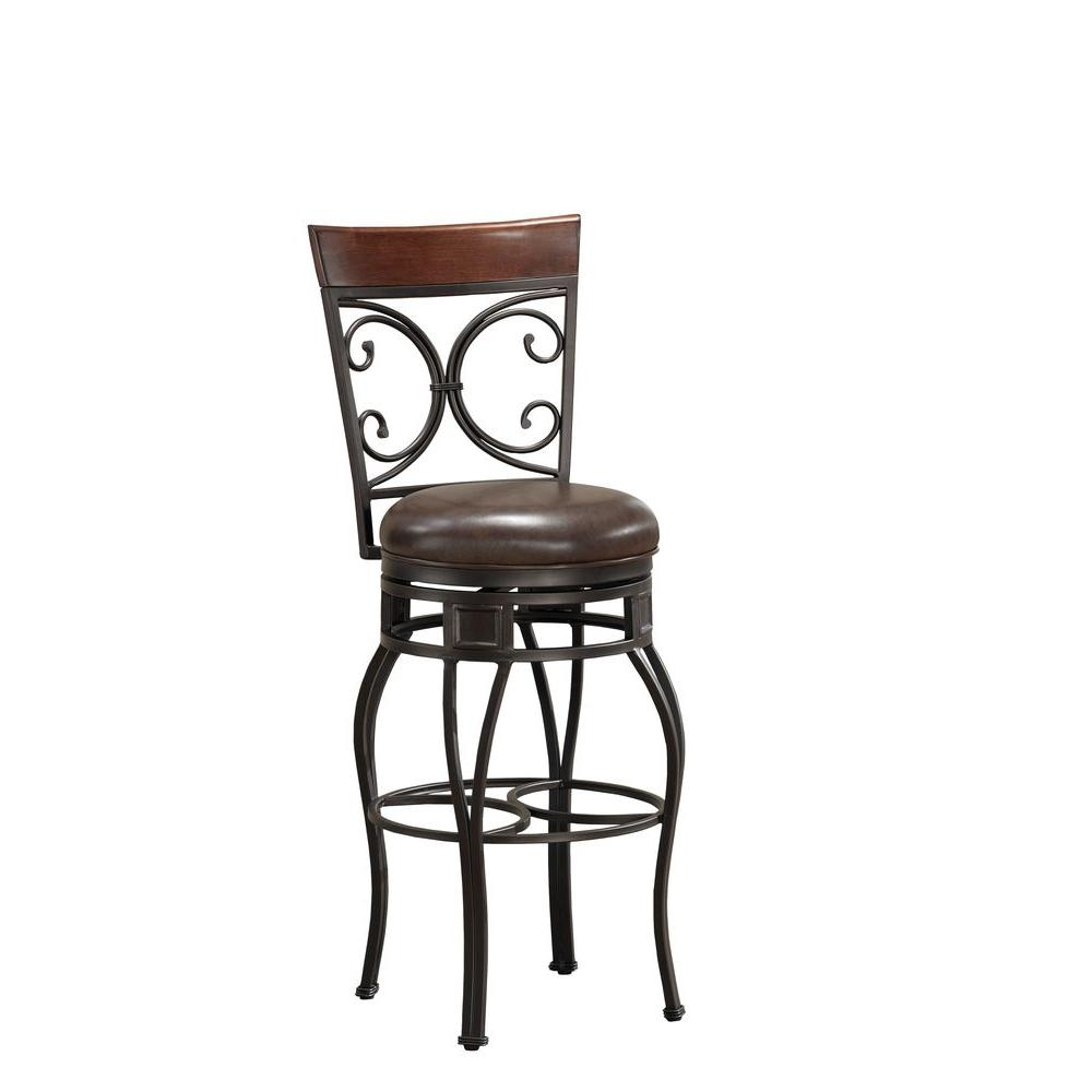 American Heritage Treviso 30 in. Bar Stool in Pepper