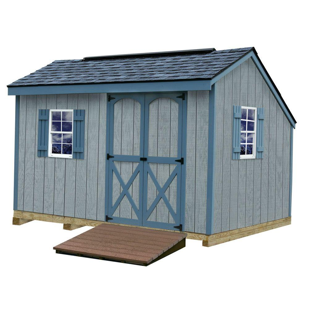 Best Barns Aspen 8 ft. x 12 ft. Wood Storage Shed with 2 Windows Ramp and Floor Included