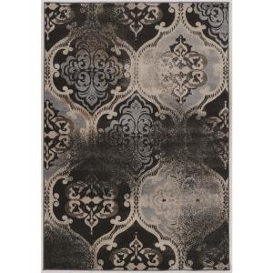 Delightful Linon Home Decor Jordan Collection Vintage K Arthur Blue And Beige 5 Ft. X  8 Ft. Area Rug THD01213   The Home Depot