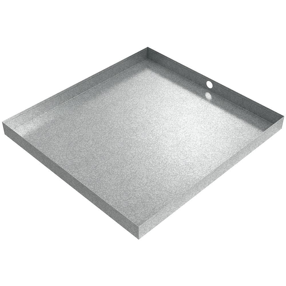 32 in. x 30 in. x 2.5 in. Galvanized Steel Washer Drain Pan