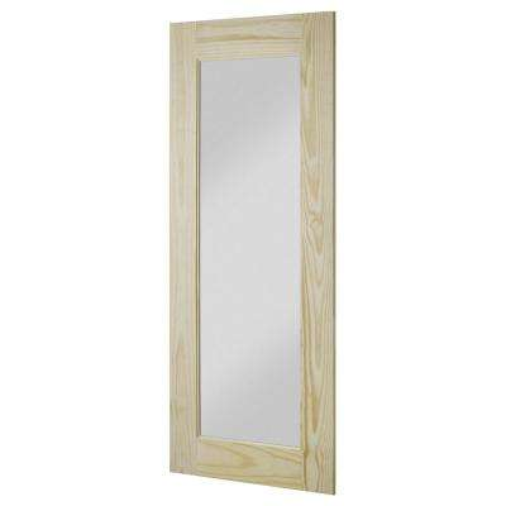 37 in. x 84 in. Reflex Unfinished Clear Pine Interior Barn Door Slab