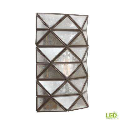 Harambee 1-Light Heirloom Bronze Sconce with LED Bulb