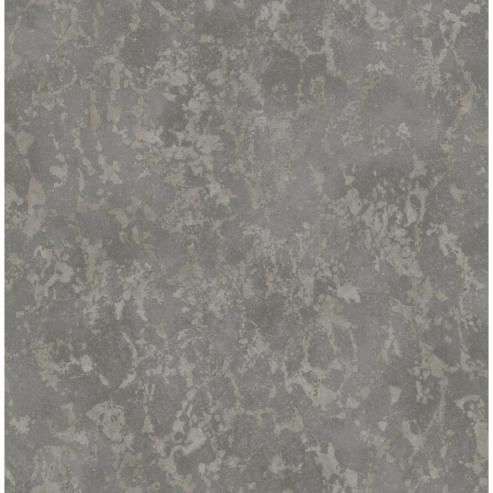 Imogen Charcoal Faux Marble Wallpaper Sample
