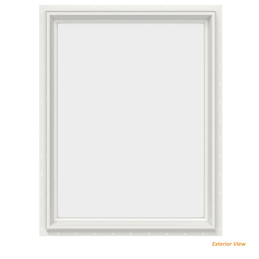 29.5 in. x 35.5 in. V-2500 Series White Vinyl Picture Window