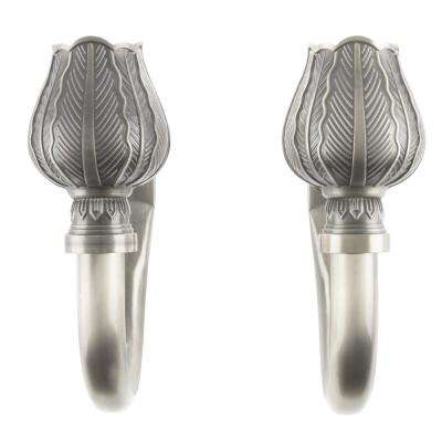 Tulip Holdback Pair in Pewter