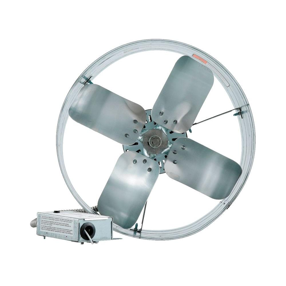 iliving 14 in single speed gable mount attic ventilator fan with adjustable thermostat. Black Bedroom Furniture Sets. Home Design Ideas