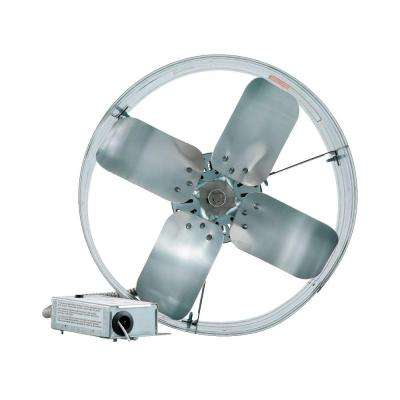 14 in. Single Speed Gable Mount Attic Ventilator Fan with Adjustable Thermostat, 3.15 Amp