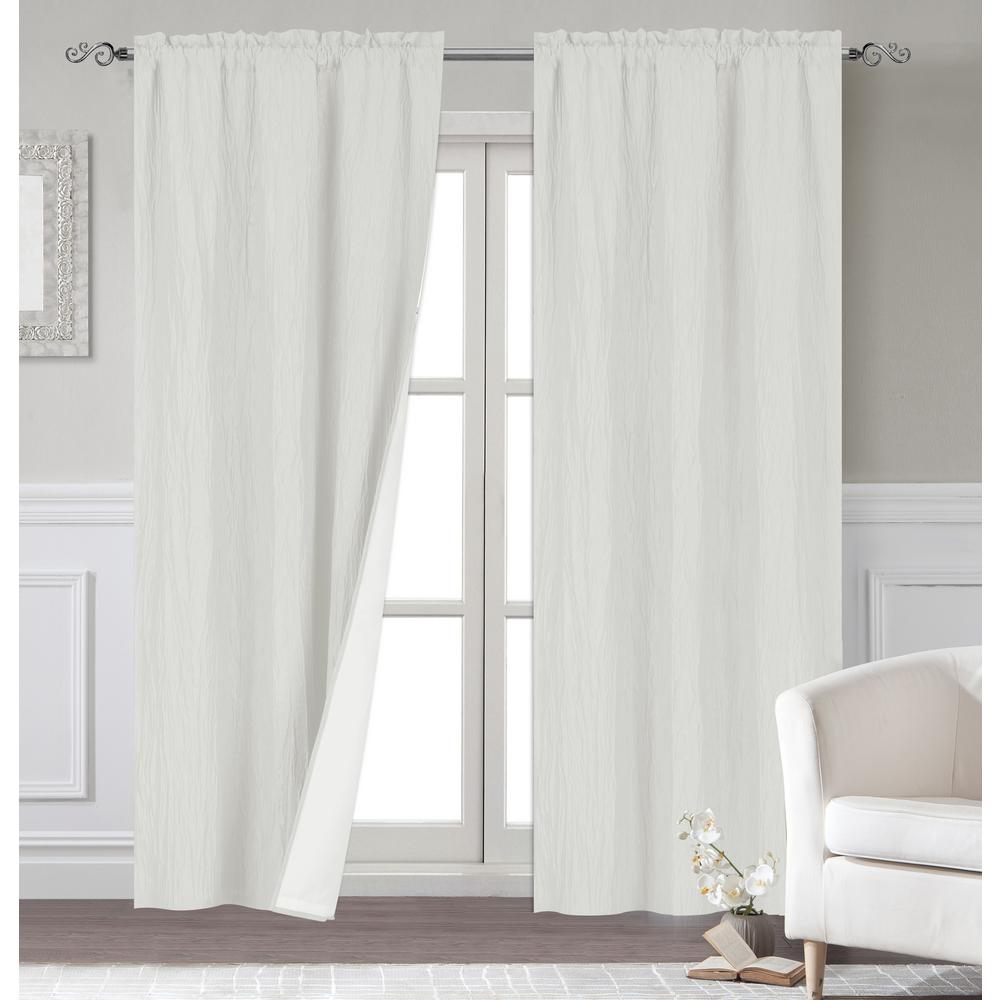 Polyester Extra Long Blackout Window Curtain Panel Pair With Thermal