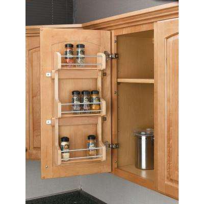 21.5 in. H x 10.5 in. W x 3.12 in. D Small Cabinet Door Mount Wood 3-Shelf Spice Rack