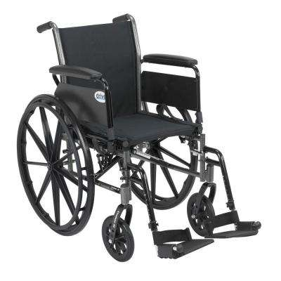 Cruiser III Wheelchair with Removable Flip Back Arms, Full Arms and Swing-Away Footrest