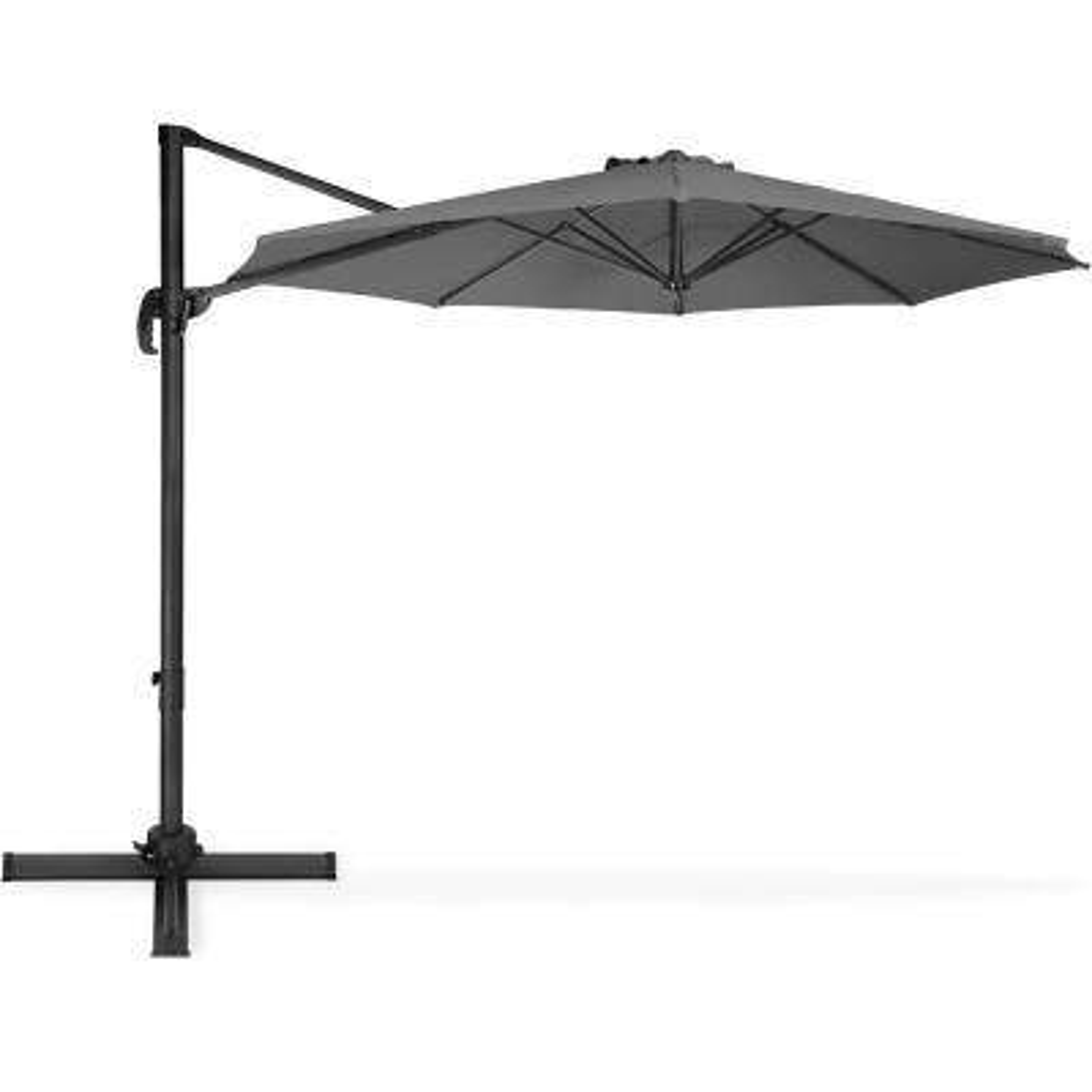10 ft. Cantilever Tilt Patio Umbrella in Gray