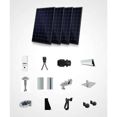 1200-Watt On/Off Grid Hybrid Kit- Mono Roof Mount System