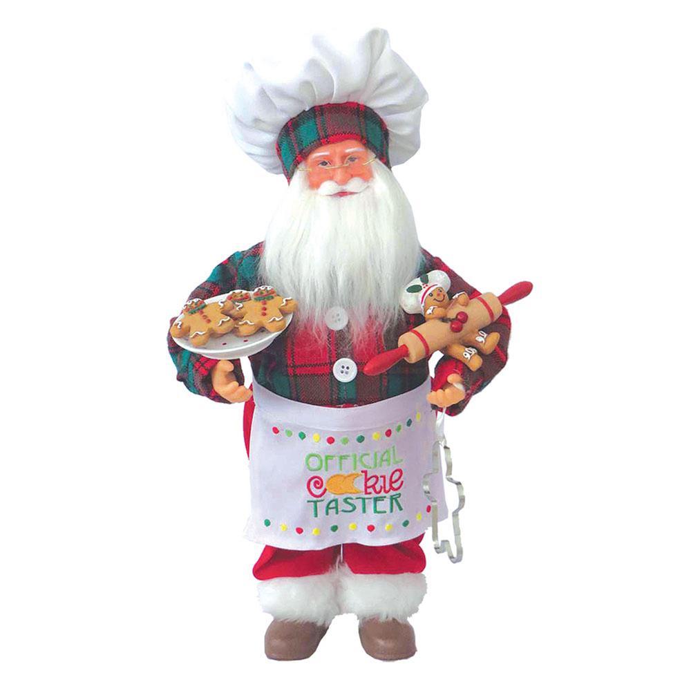 15 in. Cookie Tasting Claus