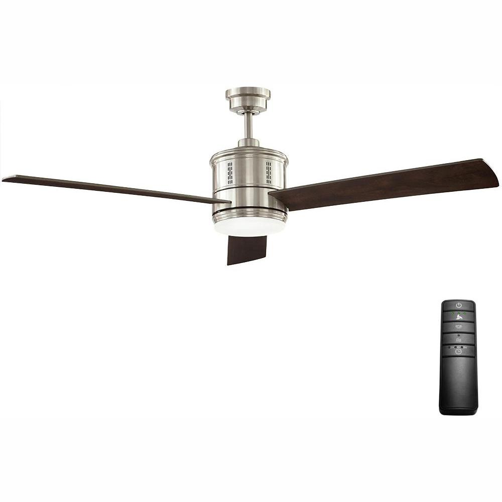 Home Decorators Collection Gamali 60 in. LED Indoor Brushed Nickel Ceiling Fan with Light Kit and Remote Control