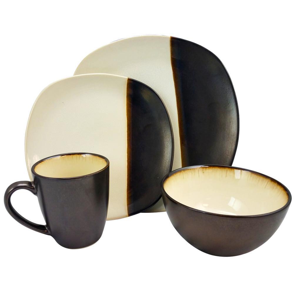 Volterra 16-Piece Cream Dinnerware Set