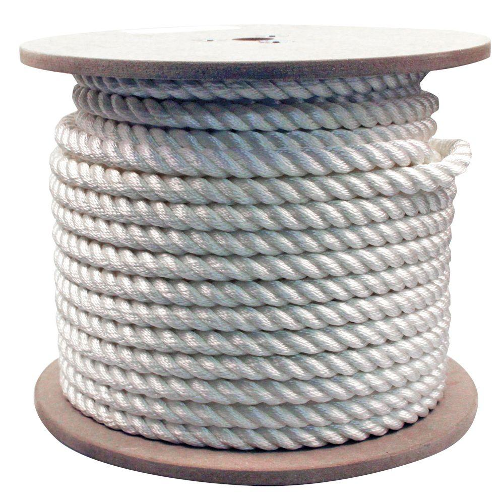 Rope King 3/4 in. x 200 ft. Twisted Nylon Rope White