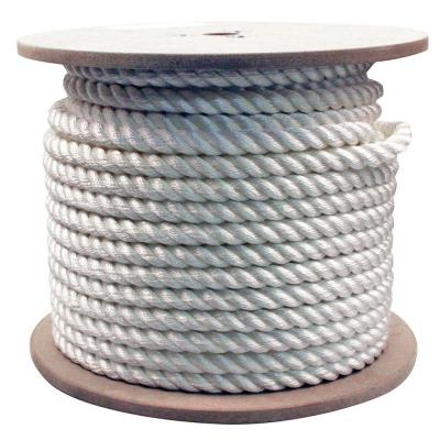 3/4 in. x 200 ft. Twisted Nylon Rope White