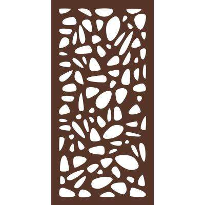 4 ft. x 2 ft. Espresso Brown Modinex Decorative Composite Fence Panel in Pebbles Design