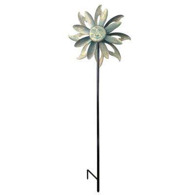 Floral Kinetic Dual Outdoor Wind Spinner