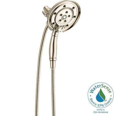 In2ition 4-Spray Hand Shower and Shower Head Combo Kit with H2Okinetic and MagnaTite Docking in Polished Nickel