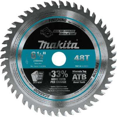 6-1/2 in. 48T Carbide Tipped Cordless Plunge Saw Blade, Wood