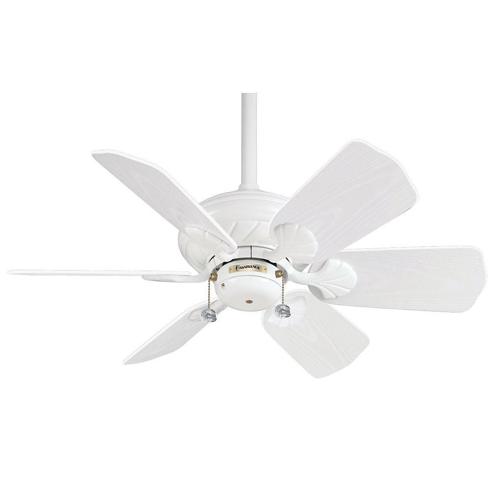 Casablanca Wailea 31 in. Snow White Ceiling Fan-DISCONTINUED