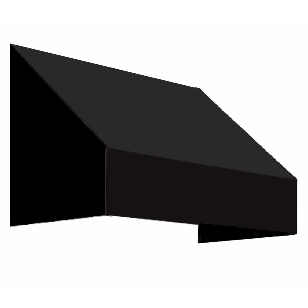 AWNTECH 4 ft. New Yorker Awning (31 in. H x 24 in. D) in Black