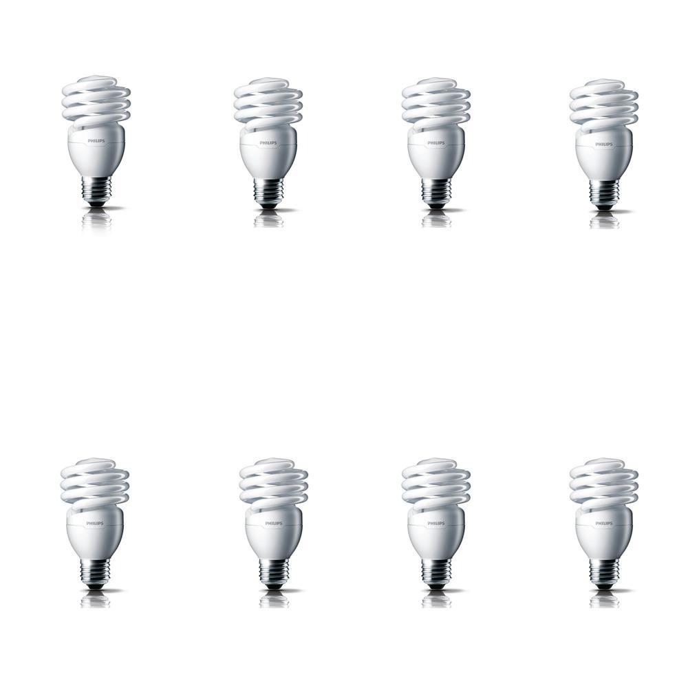 100-Watt Equivalent T2 CFL Light Bulb Soft White Spiral (8-Pack)