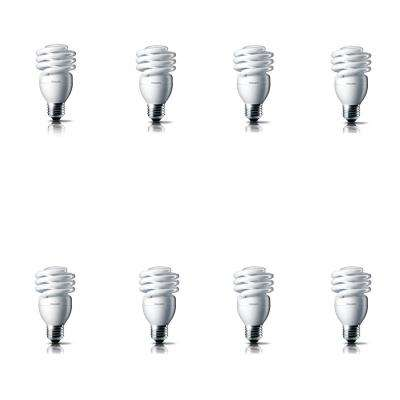 100-Watt Equivalent T2 CFL Light Bulb Soft White Spiral (8-Pack)