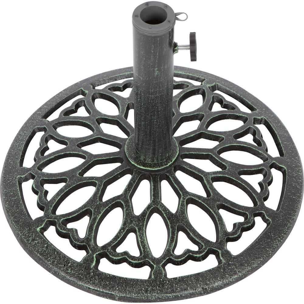 Trademark Innovations 17.5 in. Cast Iron Patio Umbrella ...