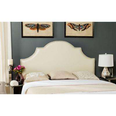 Hallmar White Leather Full Headboard