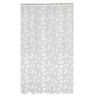 70 in. x 72 in. Just Leaves PEVA Waterproof Shower Curtain