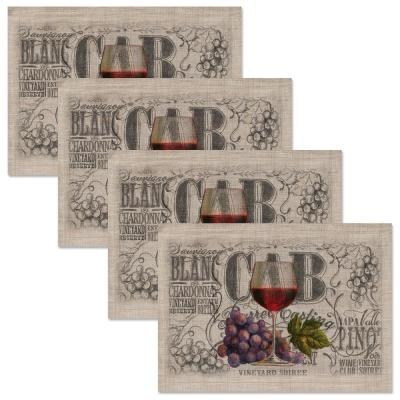 Wine Country 14 in. x 20 in. Natural Placemat (Set of 4)