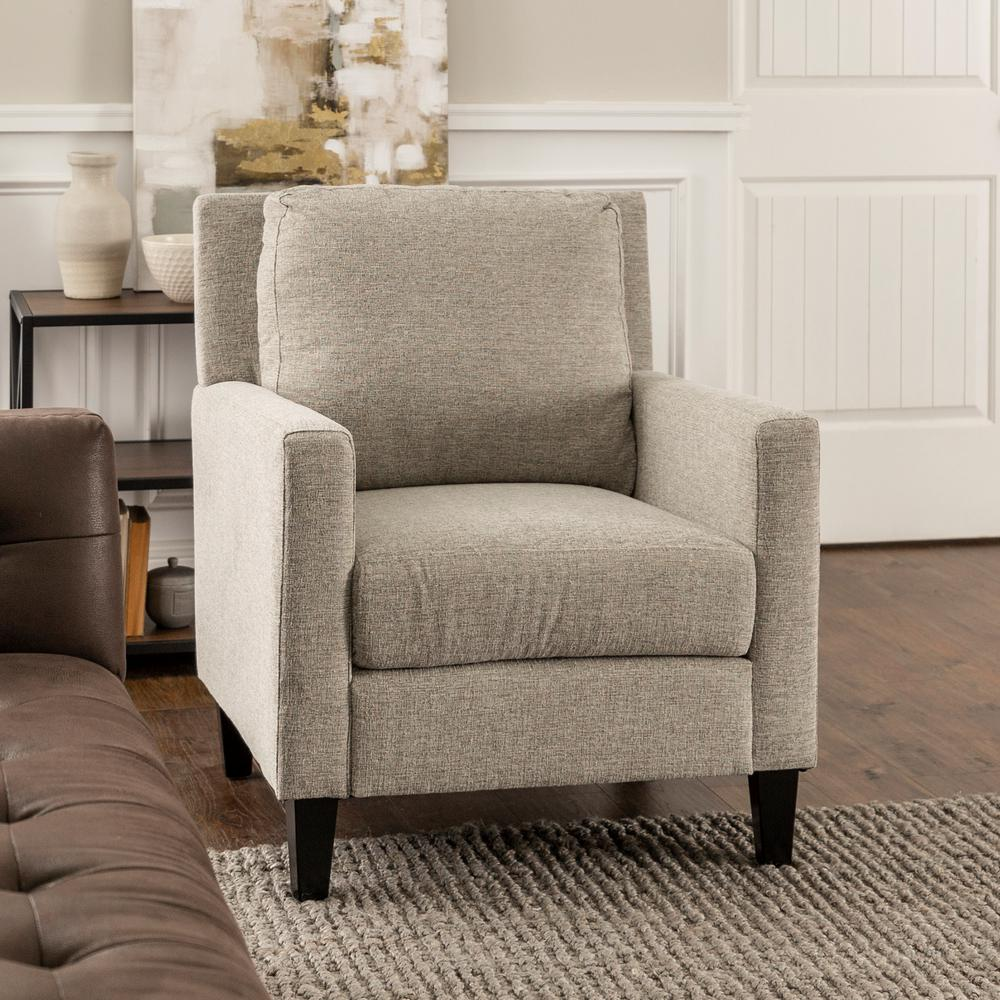 Accent Chairs For Living Room Grey Pillow Back Accent Chair