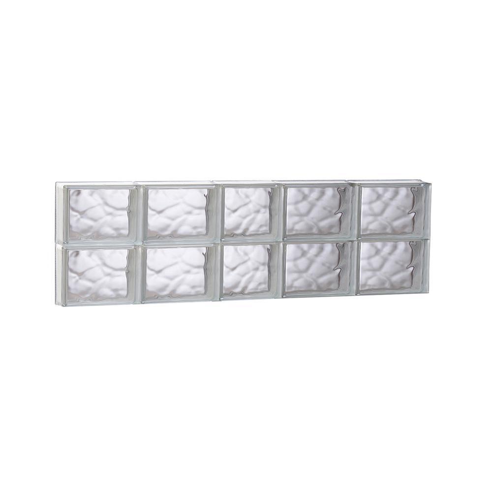 glass block window in shower bathroom remodel clearly secure 3675 in 115 3125 frameless wave pattern