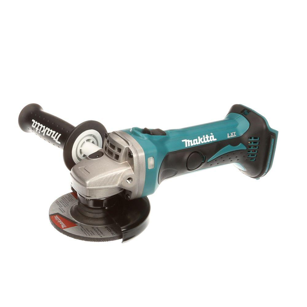 Makita 18-Volt LXT Lithium-Ion 4-1/2 in. Angle-Grinder/Cut-Off Tool (Tool-Only)