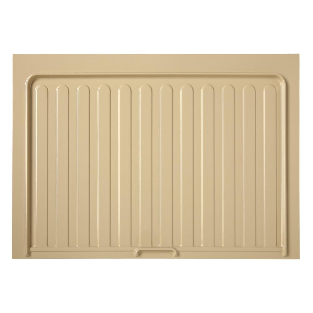 0.72 in. H x 34.5 in. W x 23.25 in. D Medium Almond Sink Base Drip Tray