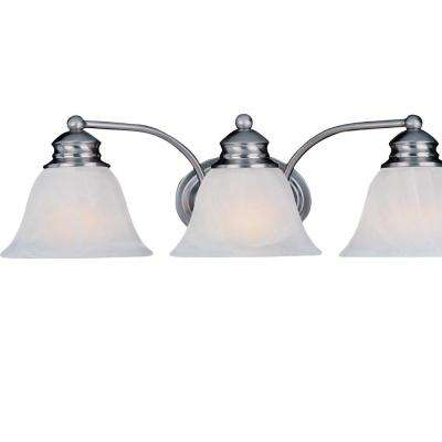 Malaga 3-Light Satin Nickel Bath Vanity Light