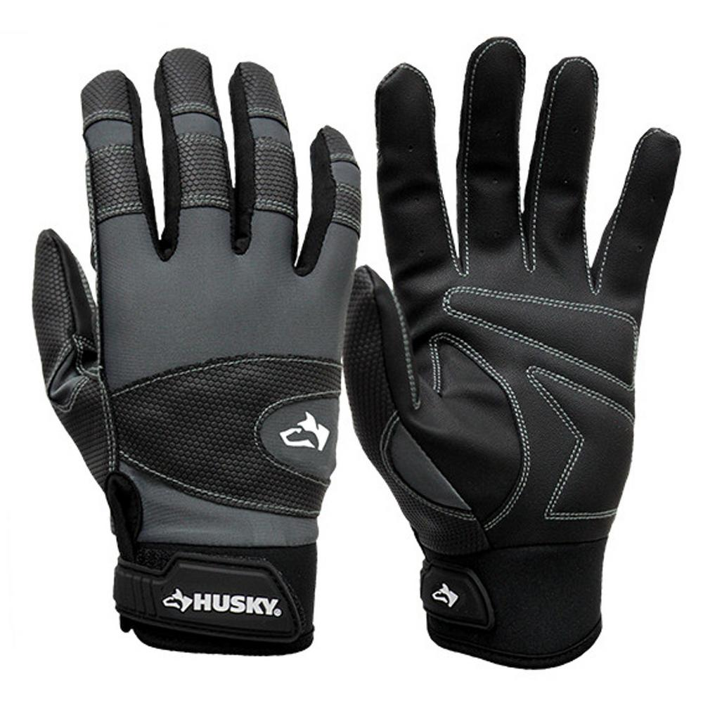 Large Light Duty Magnetic Mechanics Glove, Blacks