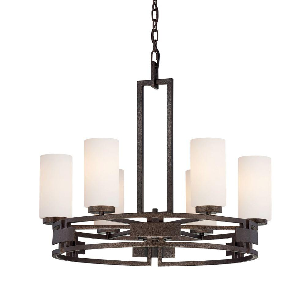 Del Ray 6-Light Flemish Bronze Interior Incandescent Chandelier