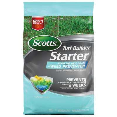 Turf Builder 21.5 lbs. 5,000 sq. ft. Starter Lawn Fertilizer for New Grass Plus Weed Preventer
