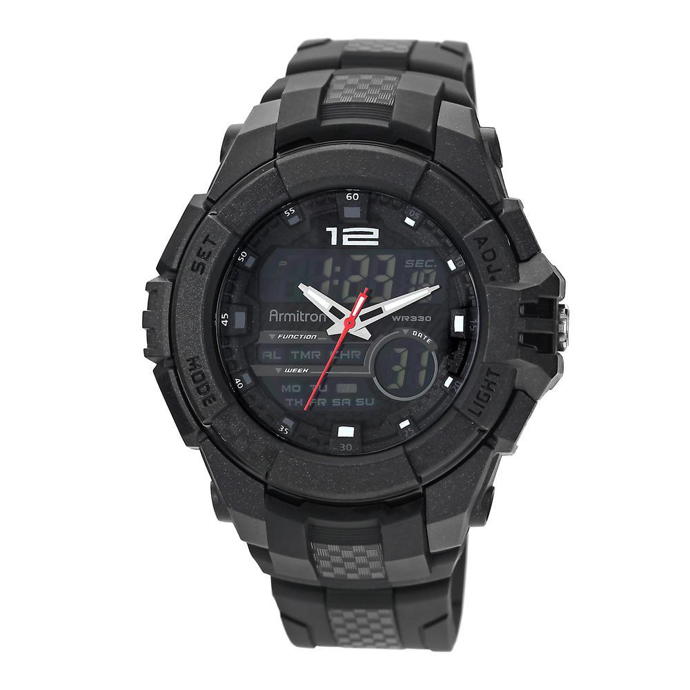 Pro Sport Black Analog Digital Chronograph Watch