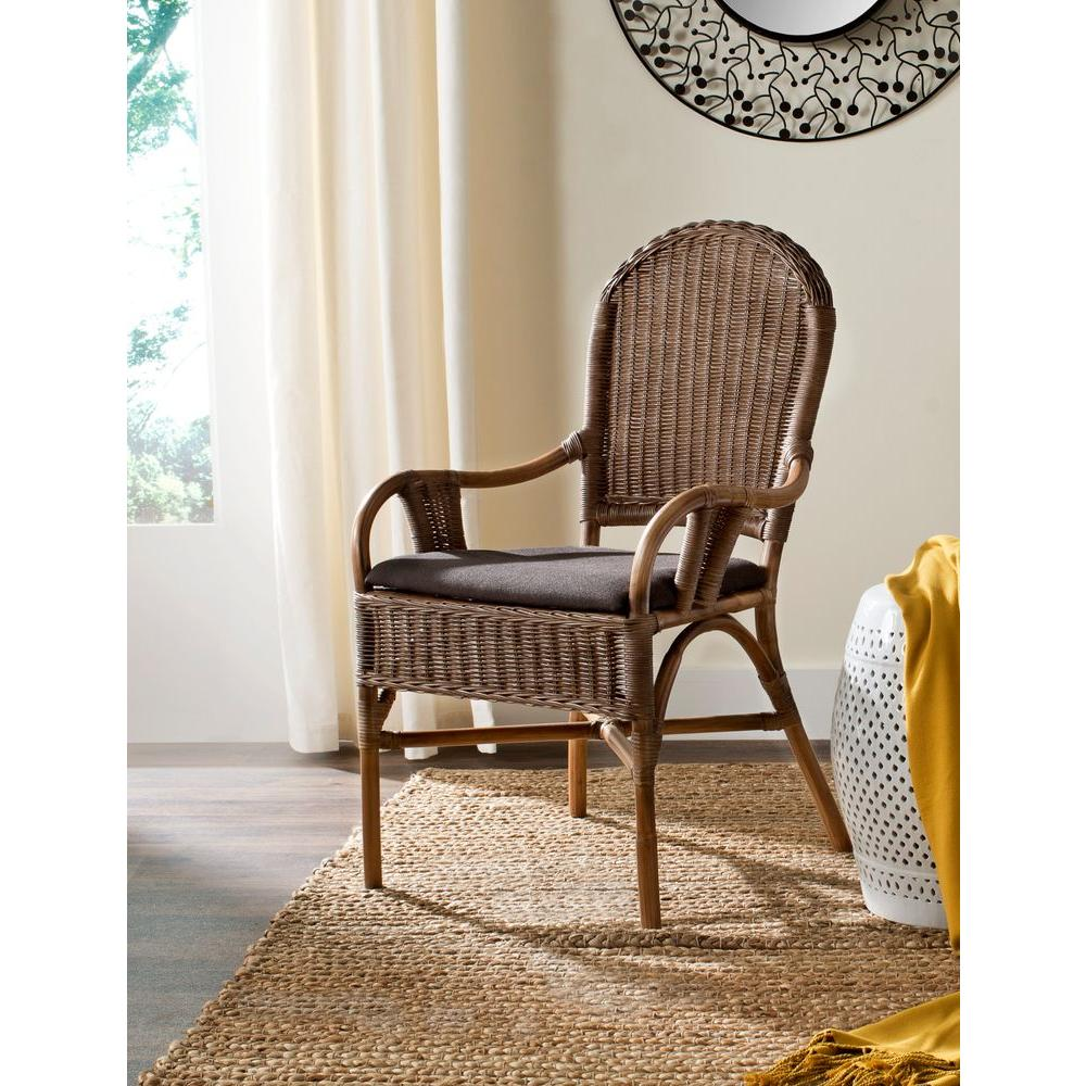 Safavieh Bettina Brown Rattan Arm Chair