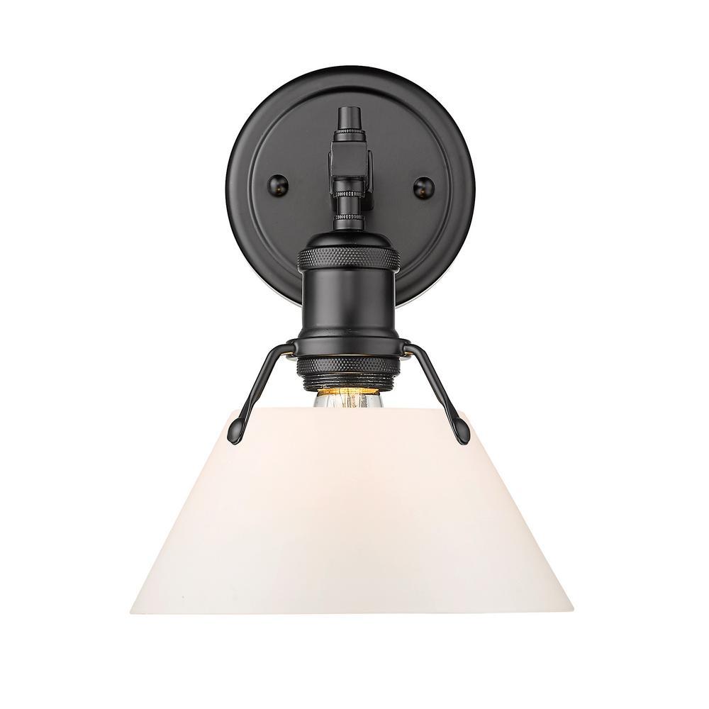 Orwell 4.875 in. 1-Light Matte Black Vanity Light