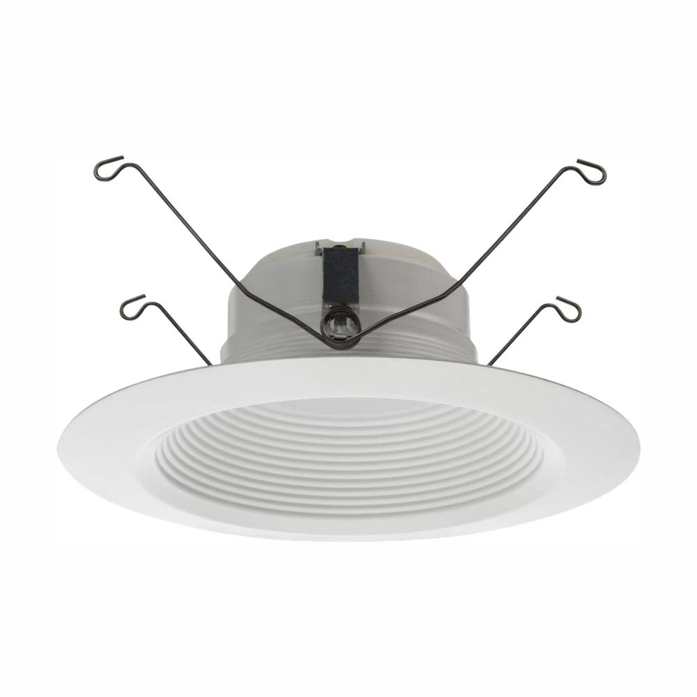 Lithonia Lighting E-Series 5 in. and 6 in. Matte White Recessed 3000K LED Baffle Module