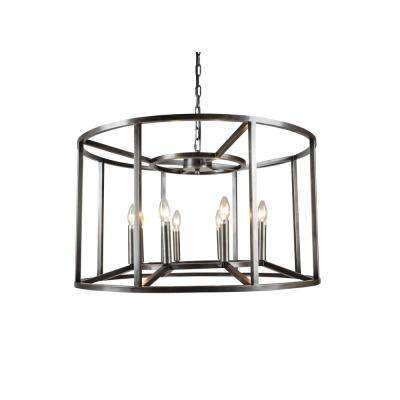 8-Light Nickel Finish Chandelier