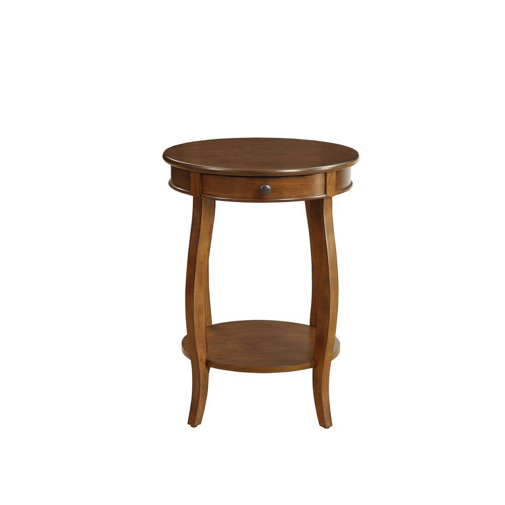 Alysa Walnut Storage Side Table
