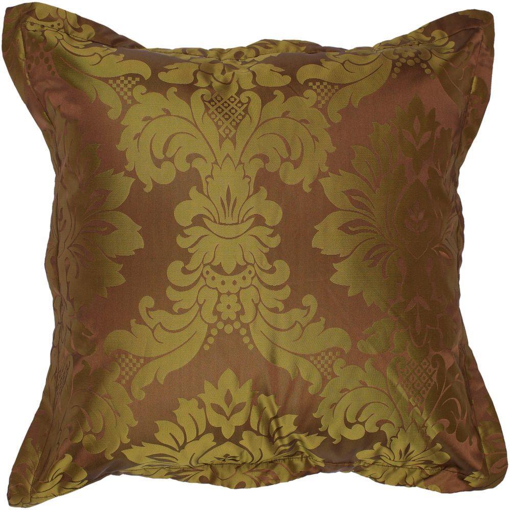 Decorative Down Pillows : Artistic Weavers Damask2 18 in. x 18 in. Decorative Down Pillow-Damask2-1818D - The Home Depot